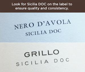 SiciliaDOC Label small