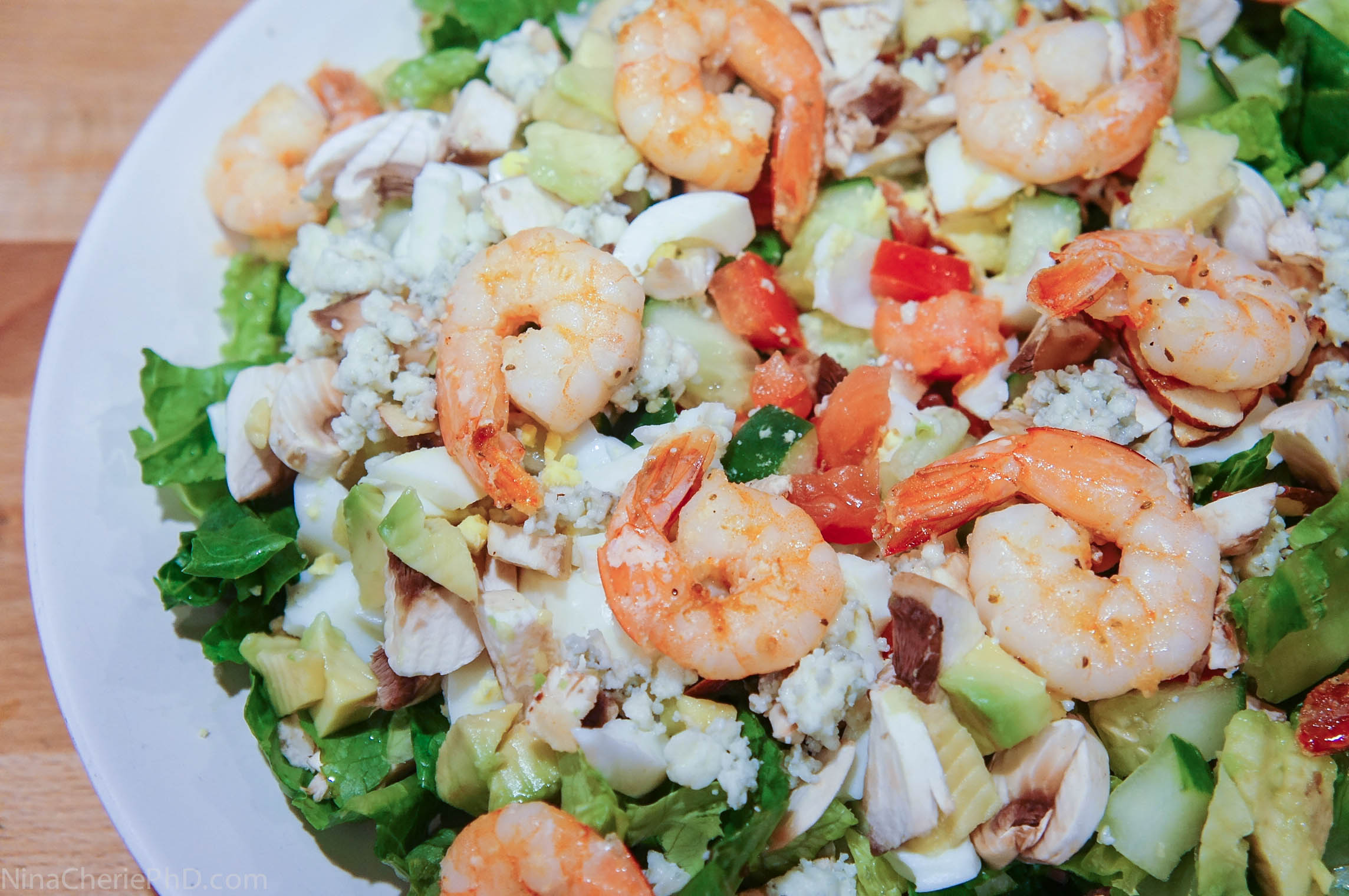 Shrimp_and_Romaine_Salad_with_Avocado_Nina_Cherie_PhD